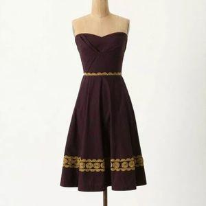 Girls from Savoy Aubergine Sky Strapless Dress